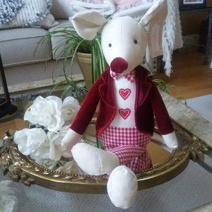 NEW! ADORABLE Weighty SHELF SITTER Mouse 2 CUTE